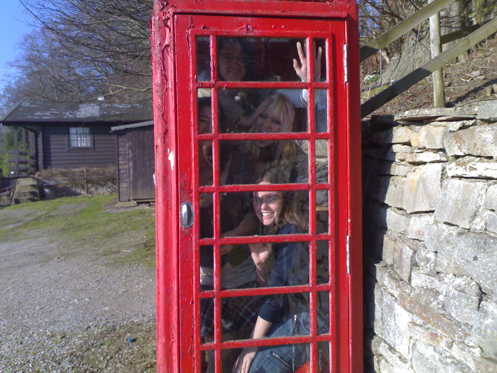 conference call in phone box